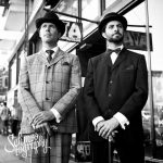 Sir Pomp (Robert Edward Earl Hickling) and Sir Psycho (Daniel Smith) trying to avoid the paparazzi (thanks, Schmoo Photography).