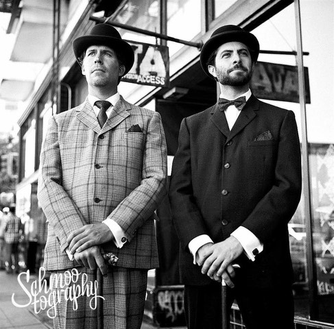 Sir Pomp (Robert Wyald) and Sir Psycho (Daniel Smith) trying to avoid the paparazzi (thanks, Schmootography).